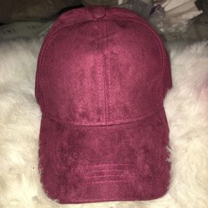 Burgundy Textured Dad Hat